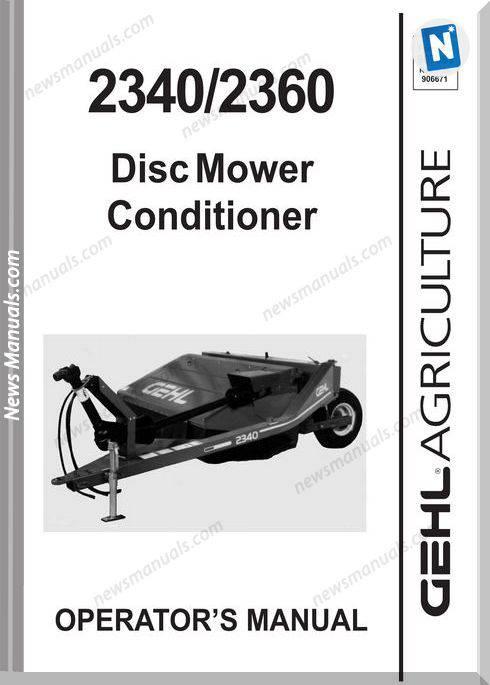 Gehl Agricultural 2340-2360 Round Baler Operator-Manual
