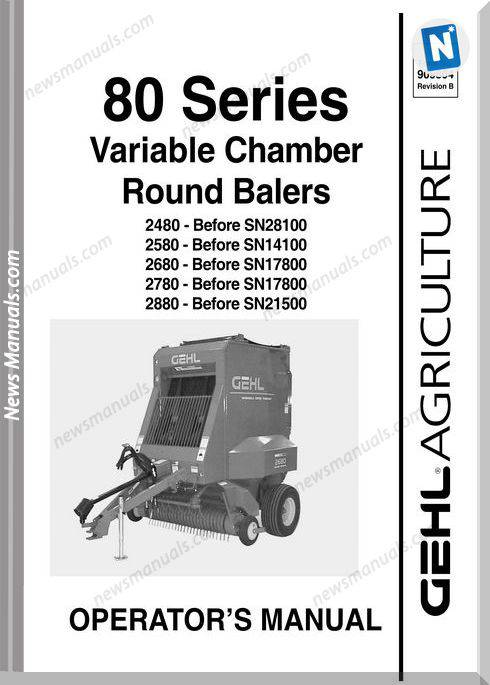 Gehl Agricultural Owners Manuals 80-Series-Early-Model