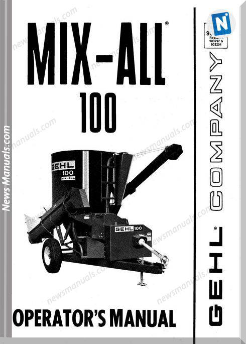 Gehl Agricultural Owners Manuals Mx100-Operator-Manual