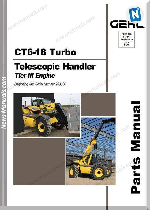 Gehl Ct6 18 Turbo Telescopic Handler Parts No 913347