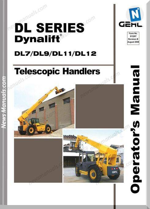 Gehl Dynalift Telescopic Dl7 9 11 12 Operator Manual