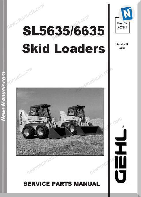 Gehl Skid Loader Parts Catalogs Model 5635 6635 Series1