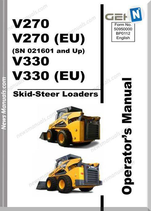 Gehl Skid Loader V270 330 English Operator Manual