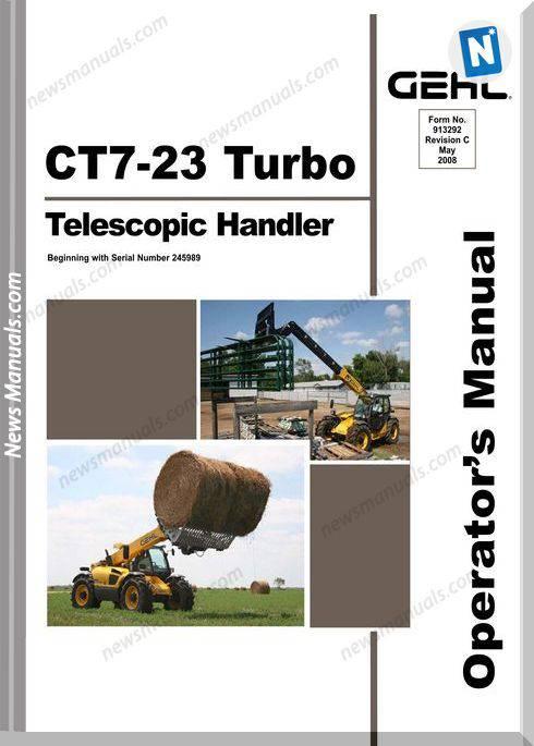 Gehl Telescopic Handlers Ct7 23 Mid Model Operator