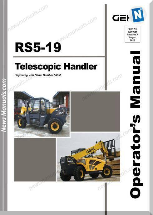 Gehl Telescopic Handlers Rs5 19 Late Model Operator