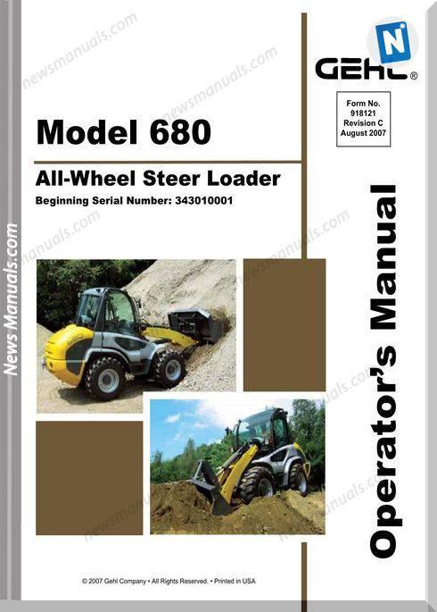 Gehl Wheel Steer 680 Models English Operator Manual