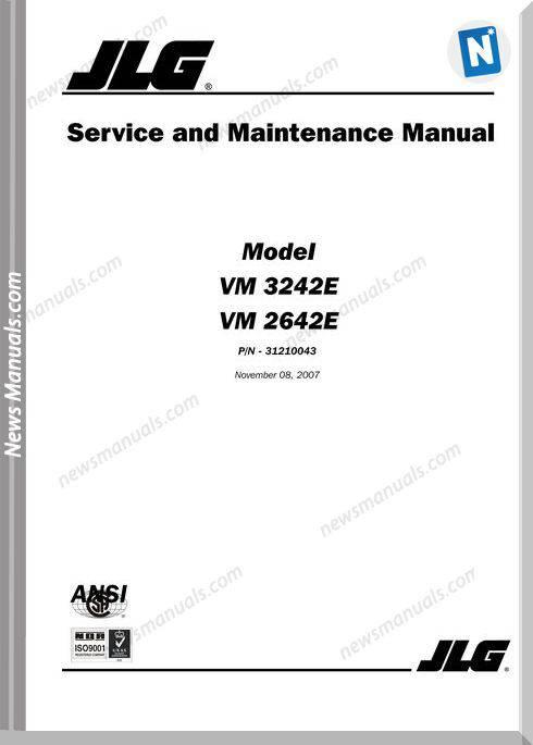 Groove Jlg Vm3242E Service Manual