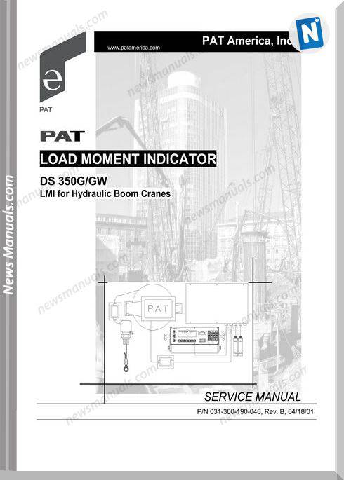 Grove Load Moment Indicator Ds350G Gw Service Manual