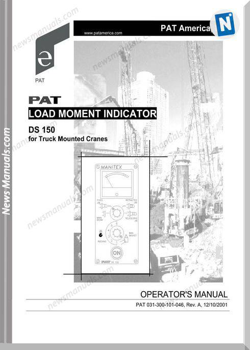 Grove Pat Load Moment Indicator Ds150 Operator Manual