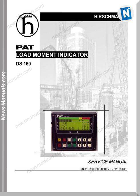 Grove Pat Load Moment Indicator Ds160 Service Manual