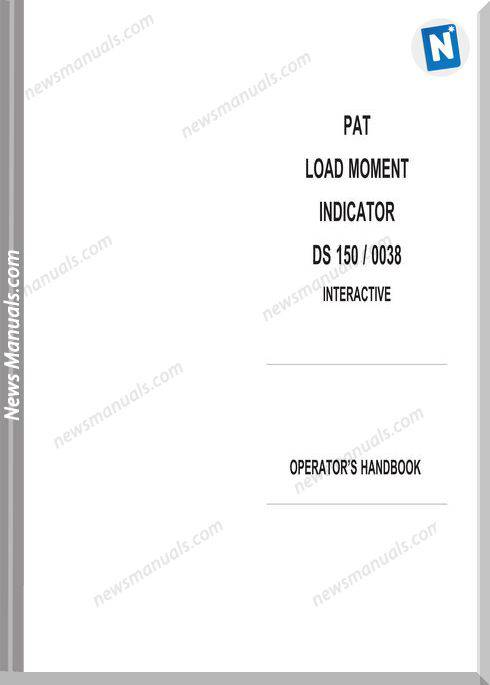 Grove Pat Load Moment Indicator Ds350 0038 Operator Manual