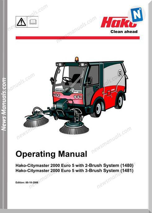 Hako Citymaster 2000 Clean Ahead Operation Manual