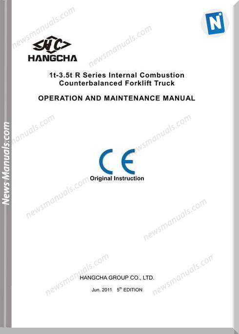 Hangcha Forklift 1T 3 5T Series Combustion Maintenance Manual