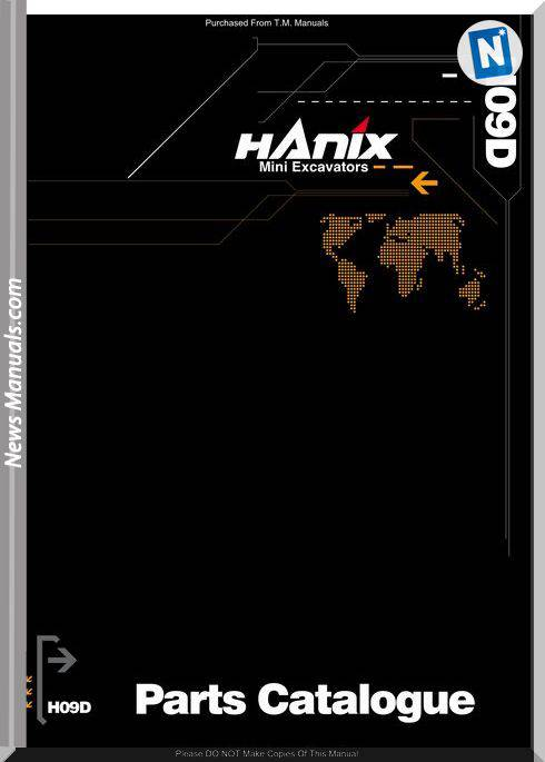 Hanix H09Dpc Parts Catalog