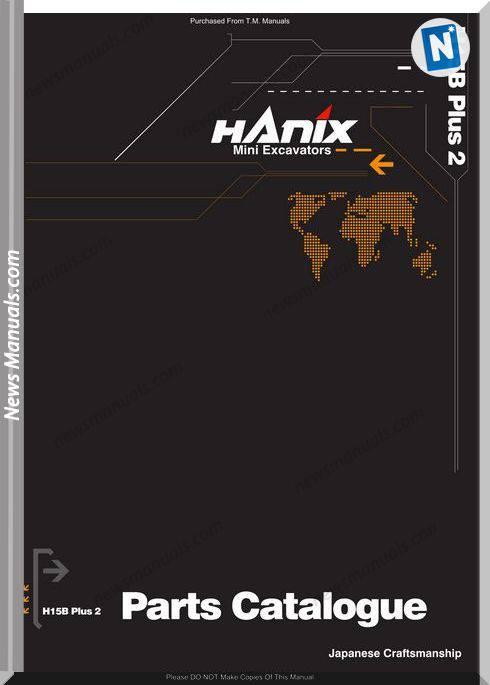 Hanix H15B 2 Parts Catalog