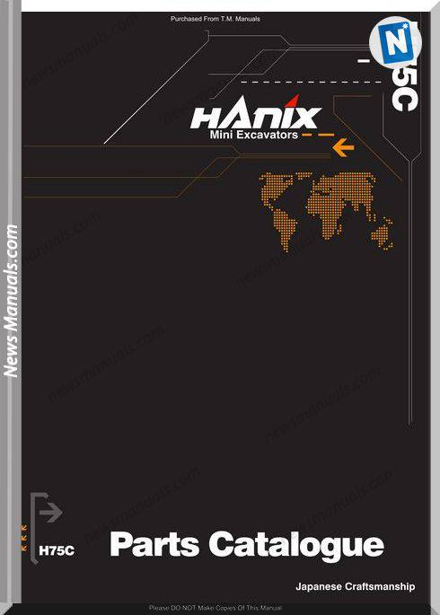 Hanix H75C Parts Catalog