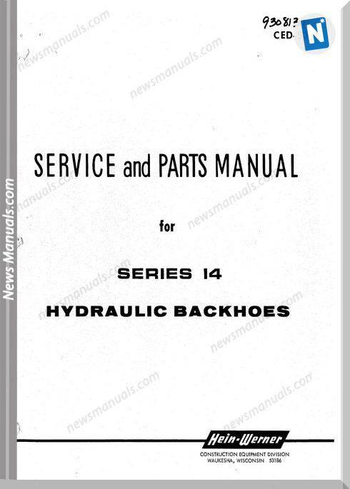 Hein Warner Series 14 Spm 9308131 Parts Manuals