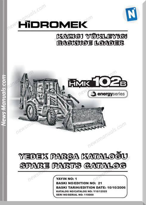 Hidromek Hmk 102b Backhoe Loader Parts Catalog 2006