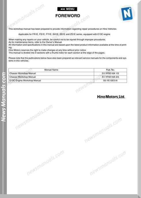 Hino 700 Brake Direccion-Suspension Workshop Manual
