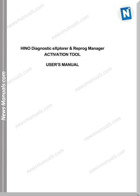 Hino Diagnostic Explorer 3 0 Dx Activation User Manual