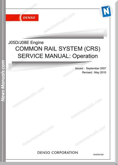 Hino J05D J08E Common Rail Service Manual