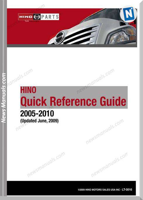 Hino Truck 2005-2010 Quick Reference Guide