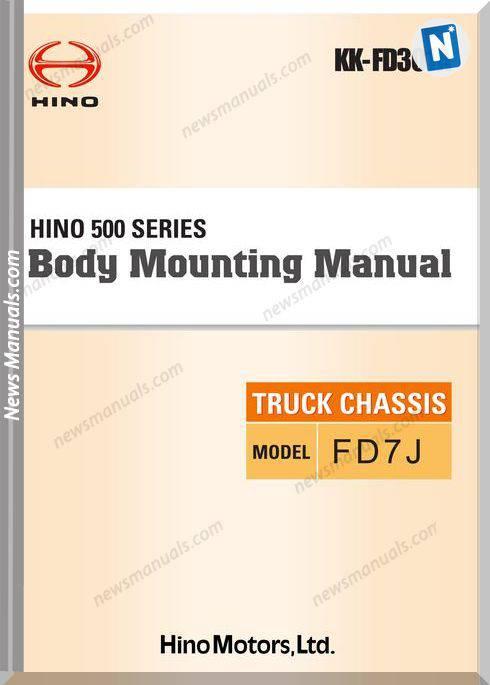 Hino Truck Fd7J Models Body Mounting Rrepair Manual