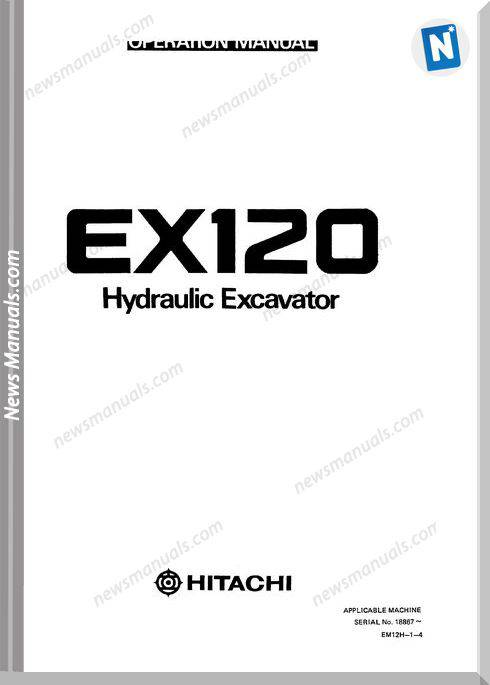 Hitachi Ex120 Operators Manual