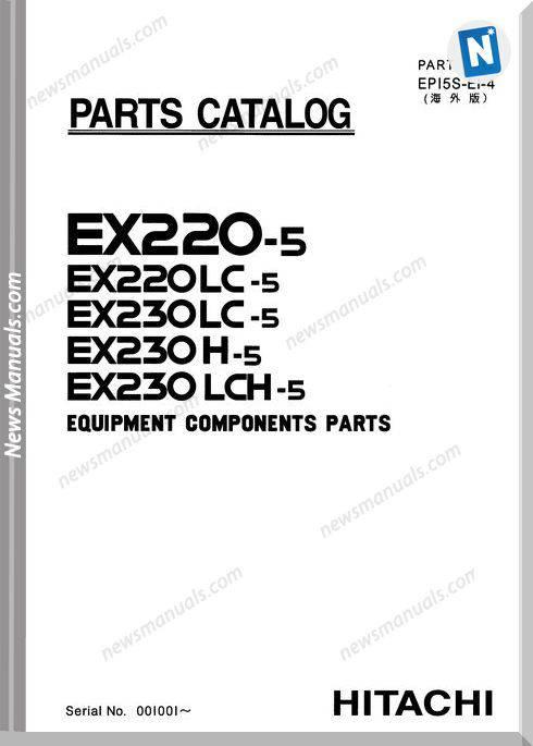 Hitachi Ex220 230-5 Equipment Components Parts