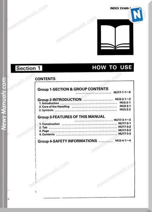 Hitachi Ex400-1 Service Manual