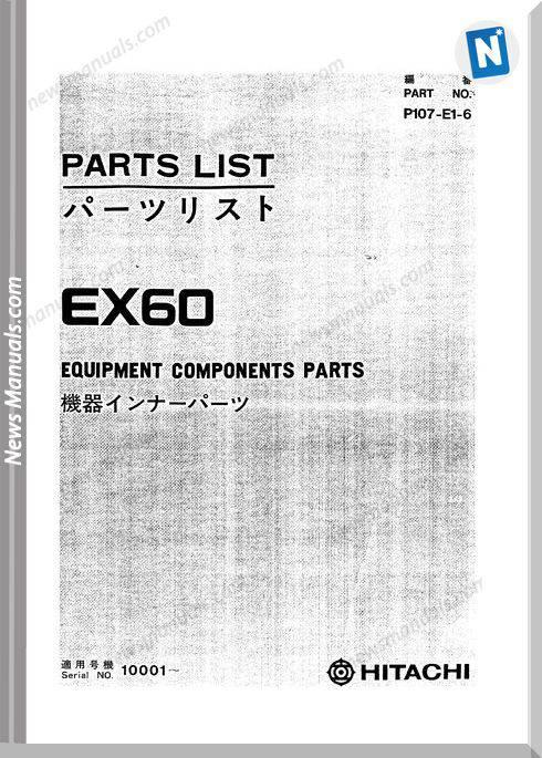 Hitachi Ex60 No P107 E1 6 Set Parts Catalog