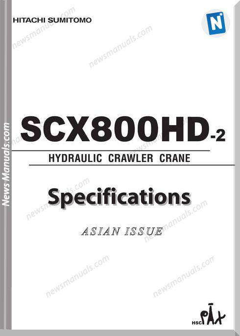 Hitachi Sumitomo Scx800Hd 2 Hydraulic Crawler Crane