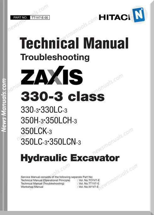 Hitachi Zaxis 330 3 Class Technical Manual Troubleshoot