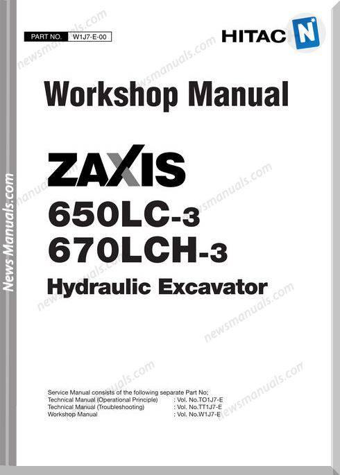 Hitachi Zaxis 650Lc 670Lch 3 Workshop Manual