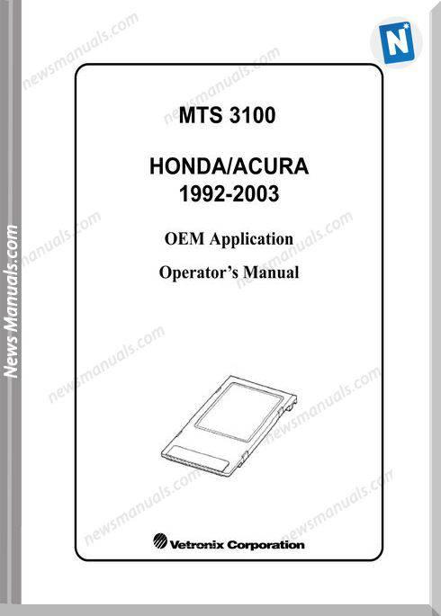 Honda Acura 1992 2003 Operators Manual
