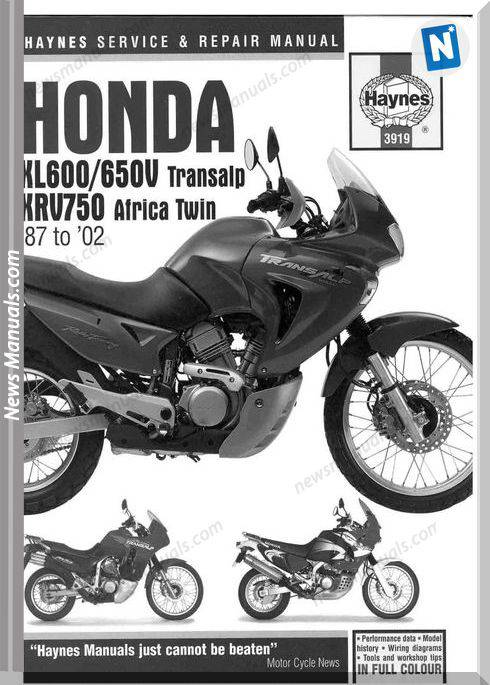 Honda Africa Twin Xrv750 And Transalp Xl600 650V 87 02 Repair Manual