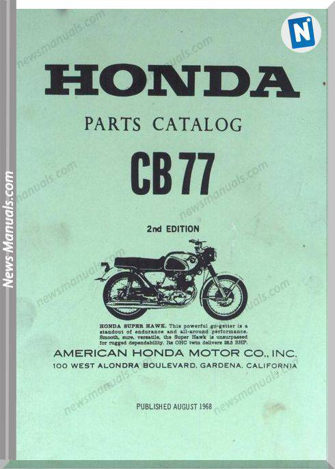 Honda Cb77 Parts Manual