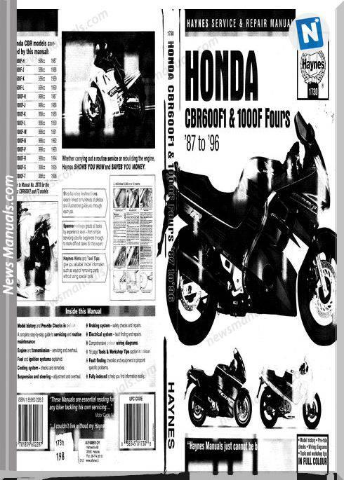 Honda Cbr600 F 87 90 Cbr1000 F 87 96 Haynes Service Manual Sc21