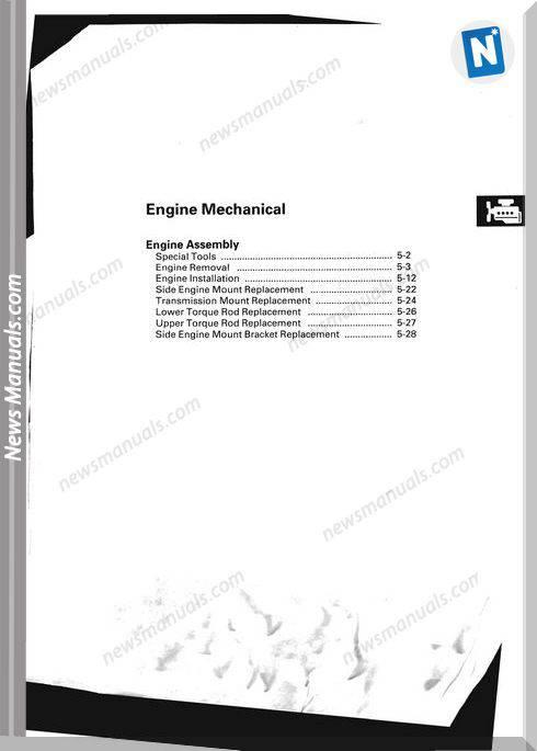 Honda Cr V 2007 2009 Engine Mechanical Repair Manual
