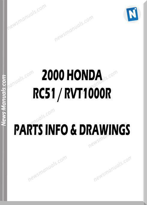 Honda Rvt1000R(Rc51) 2000 Parts Manual And Microfiches