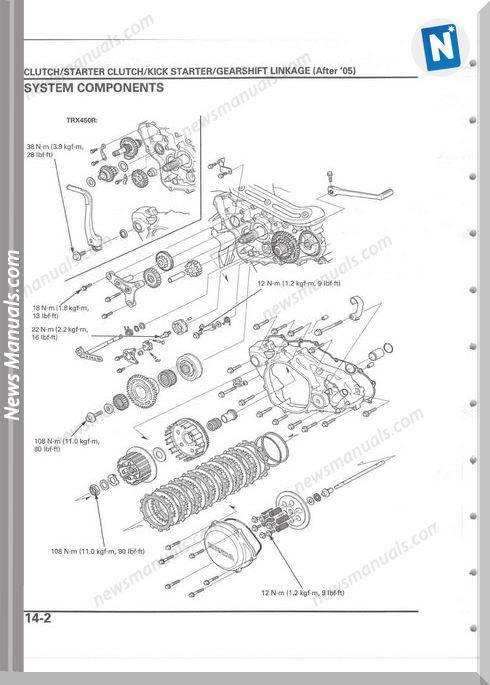 Honda Trx450r Trx450er 04 12 Repair Manual