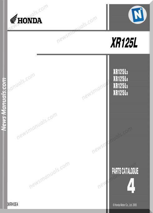 Honda Xr125L Part Catalog 2011