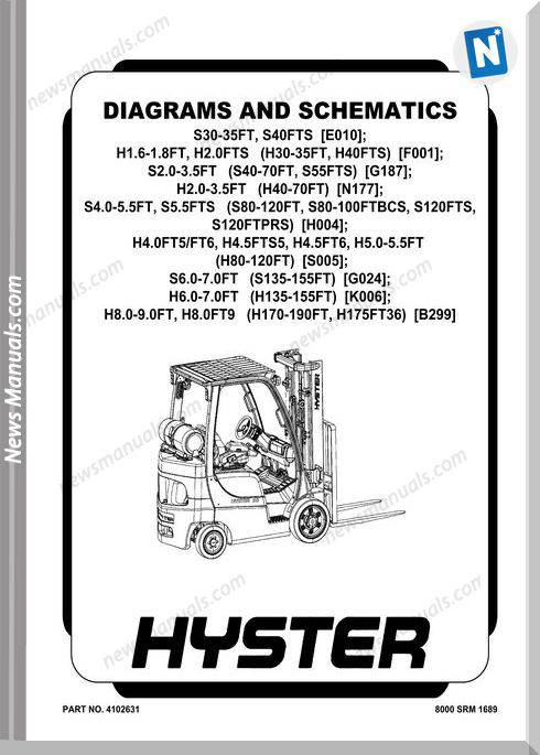 Hyster Forklift Diagrams And Schematics Part No 4102631