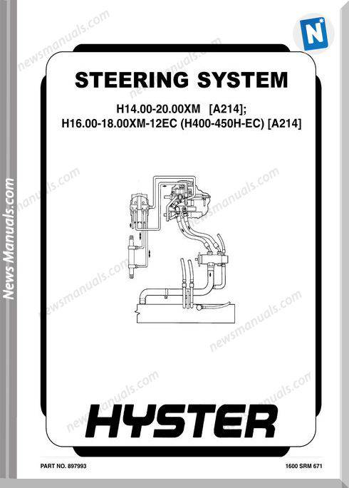 Hyster Steering System H14 20 H16 H400 Operation Manual