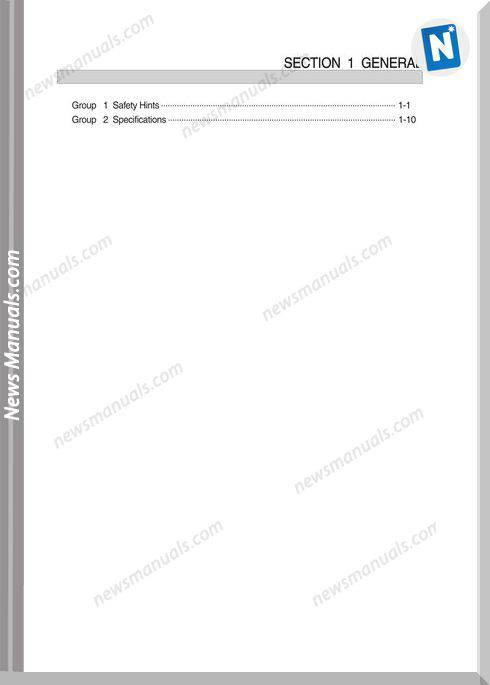 Hyundai Crawler Excavator R260Lc-9S Service Manual
