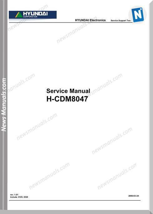 Hyundai Electronic H Cdm8047 Service Manual
