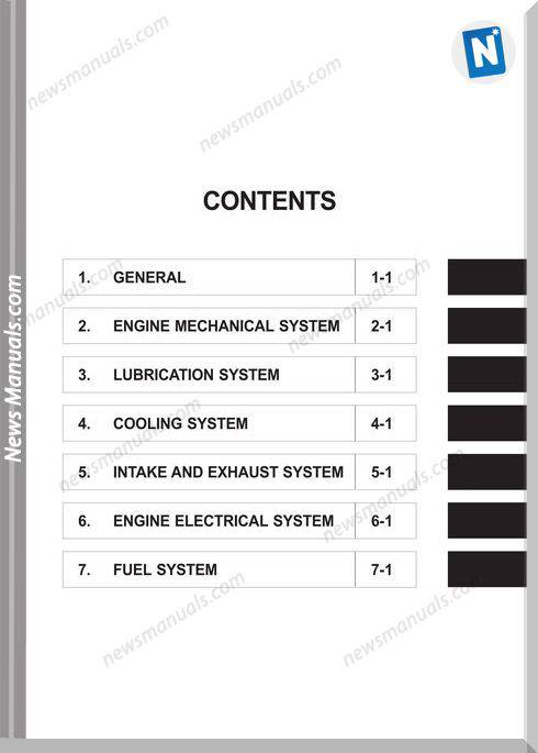 Hyundai Model D4b Shop Manual