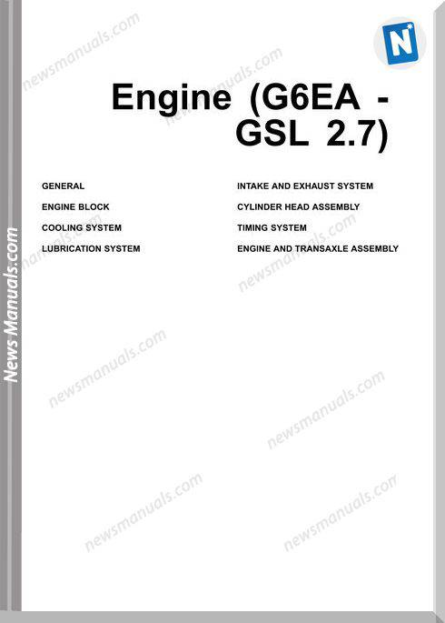 Hyundai Models Santafe Gsl 2.7 Engine Service Manual