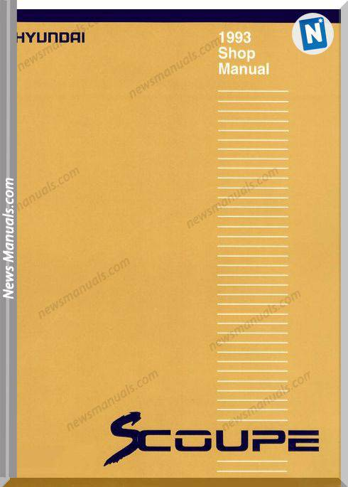Hyundai Scoupe 1993 Workshop Manual