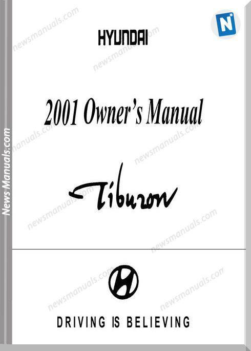 Hyundai Tiburon Models 2001 Year Owner Manual